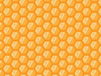 Playin' with Patterns honeycomb orange bees hexagon vector pattern