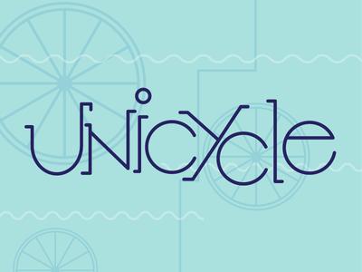 Unicycle unicycle bicycle cycle texture art deco custom typography lettering typography illustrator vector