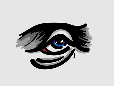 Eye, eye! digital art drawing anatomy illustrator wacom vector illustration