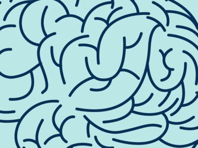 Brain Pattern brain vector blog illustrator illustration icon brand branding
