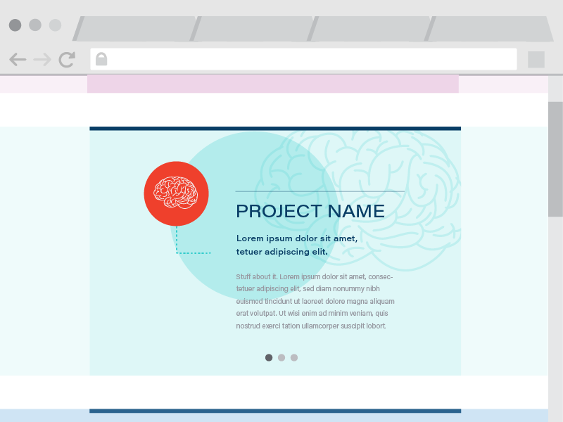 UI Experiment - Project description process experiment project portfolio flat web ux ui