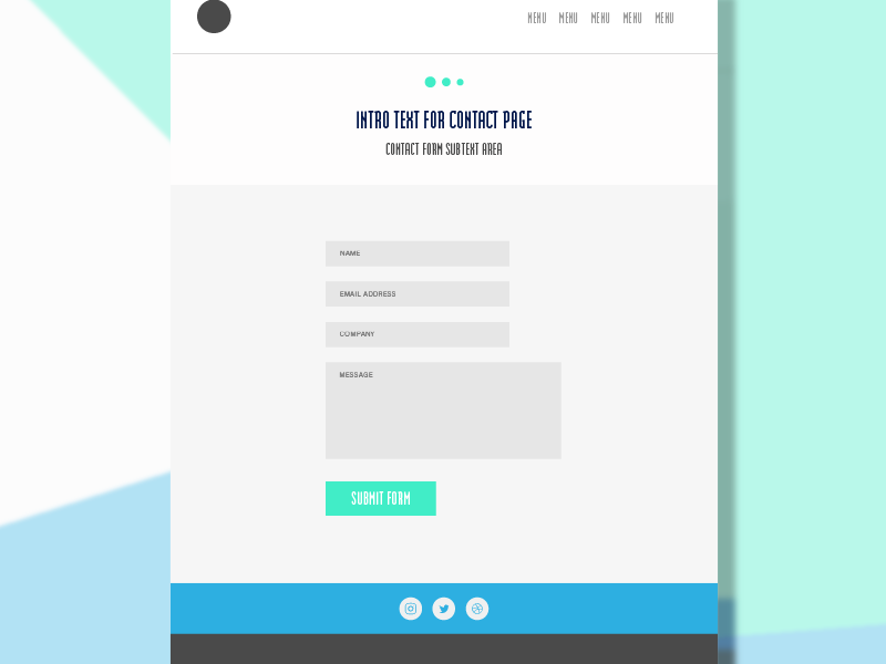 Contact Form UI portfolio flat interface ui
