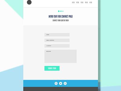Contact Form UI portfolio flat interface ui