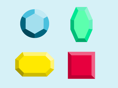 Crystal Icons vector ui illustration icons development game gem icon