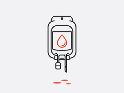 Bloodbag Line Art medical minimal vector line art logo icon