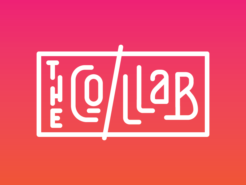 The CO/LLAB branding ui gradient custom letters typography lettering logo