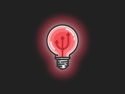 Bad Energy illustration shadow line art icon