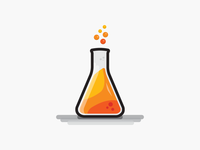 Beaker science icon flat design illustration vector illustrator