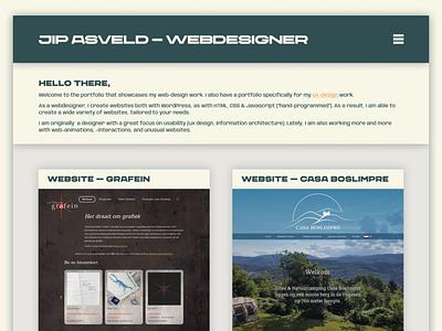 Jip Asveld - Webdesigner webdesigner digitaldesign uistyle ui design portfoliodesign portfoliowebsite uidesign website portfolio webdesign