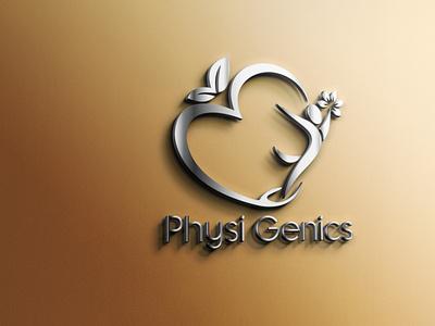 Physi Genics's Logo Design logo design physi genics physi genics