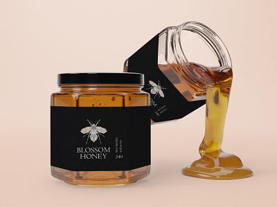 Bee Logo and Jar label bee logo and jar label bee logo and jar label