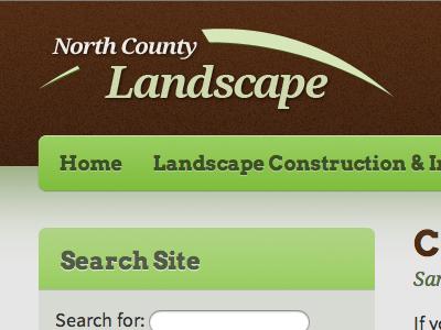 Logo area for a Landscape Website design logo landscape website navigation sidebar