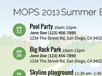 2013 MOPS Summer Events Flyer
