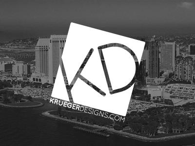 Krueger Designs Business Card logo business card krueger designs
