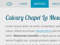 Calvary Chapel Menu and Fonts