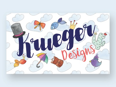 Business Card blog cartoon hand drawn fun