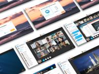 Screen layouts design ui ux app