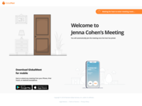 Waiting room landing page design ui app illustration web ux video conferencing video conference