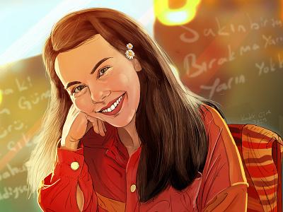 Daisy Girl digital art art ui ux concept art illustration drawing