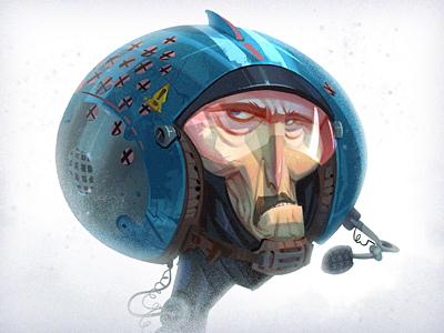 Wild Blue creaturebox illustration cartoon blue pilot