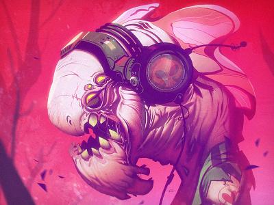 Space Jam creaturebox alien pink headphones