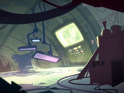 The Lab green lab sci-fi illustration