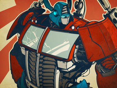 ROLL OUT! optimus creaturebox illustration robot samurai transformer