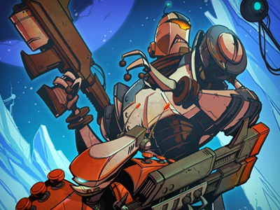 Ratchet & Clank Comic Cover 3 comic creaturebox illustration robot video games