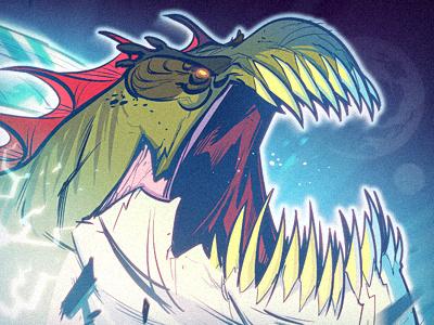 Outernauts! monster creature illustration cartoon blue green