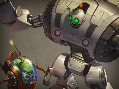 Giant Clank illustration clank robot video game gray funny