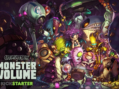 Old Friends monsters creature boy purple yellow cartoon illustration