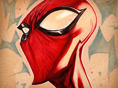 The Spider's Sense red traditional creaturebox marker pencil spider-man spiderman