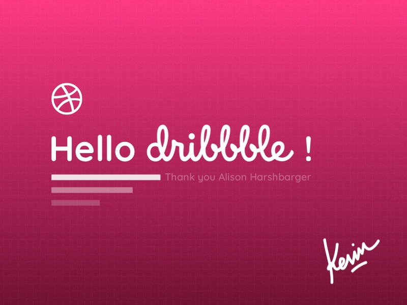 A warm greeting! pink shot debut hello dribbble