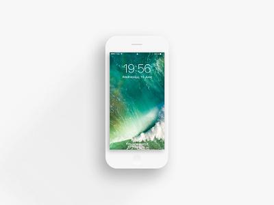 Flat iPhone 7 download modern minimal long shadow template shadow free sketch mock up iphone 7 flat