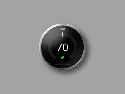 Nest Thermostat Sketch Render shadow minimal modern realistic render thermostat nest template sketch free flat download