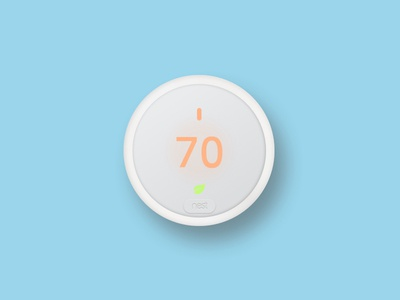 Nest Thermostat E Sketch Render shadow new blue white design thermostat nest render sketch free flat download