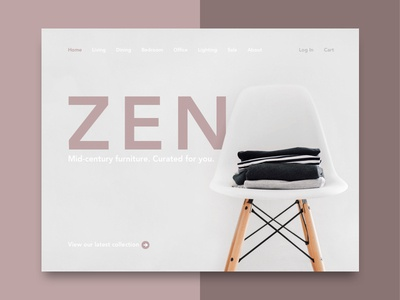Website Concept for Furniture Online Shop