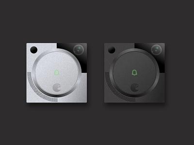 August Doorbell Cam Renders (Gen 1) ux ui app startup install device sketch render internet of things iot doorbell august doorbell cam august