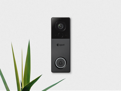 August Doorbell View view doorbell render design ux internet of things san francisco iot august home august hardware product design product industrial cmf creative industrial design