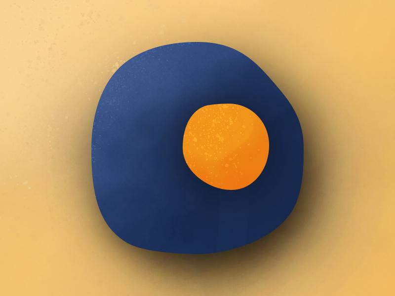 Brush | Color Exploration adobe explore design brush and ink orange yellow denim blue egg illustration art art brush brushes photoshop sketch illustration