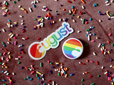 August Pride 2019 lgbtq brand branding iot smart lock logo august rainbow pride