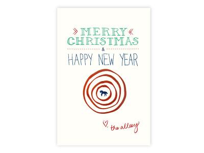 The alleey christmas card