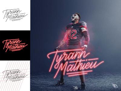 Tyrann Mathieu Neon Calligraphy vector coreldraw photoshop typography design calligraphy