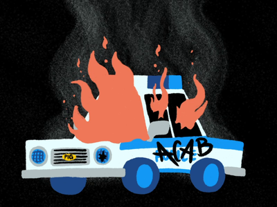 All. Cops. Are. Bastards. love peace justice hand drawn animation 2d animation procreate illustration design loop animated gif fuck the police police police brutality police car freedom anti racism acab black lives matter blm