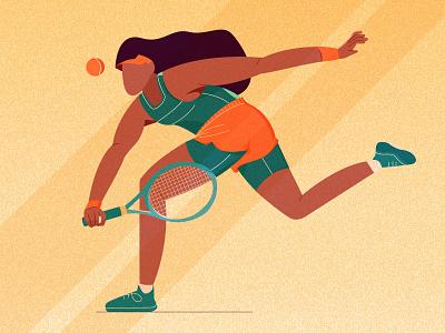 playing_racket_ typography sports ui vector illustration animation logo
