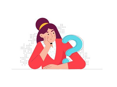 Thinking/Wondering ui ux branding minimal typography design illustration vector animation logo