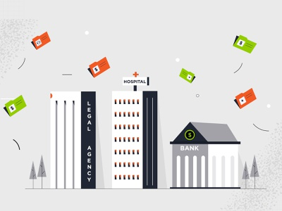 Buildings ux typography minimal design ui vector branding illustration animation logo