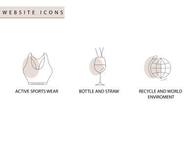 Icons vector illustration animation logo worldrecycle recycle sportswears sports icons icon