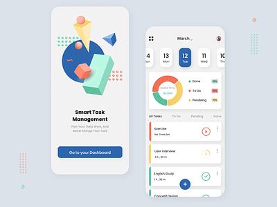Task manager - Mobile App app application illustration