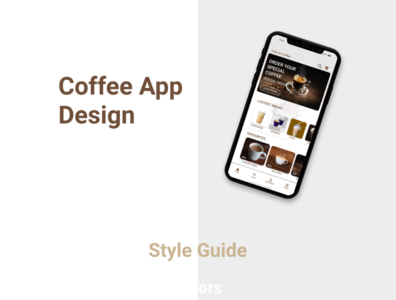 Coffee app design concept